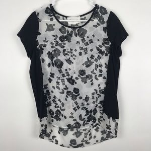 Two Vince Camuto Medium Floral Hi Low Blouse Top